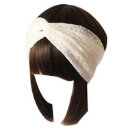 Lace Retro Turban Head Wrap Headband Twisted Knotted Soft Hair Band