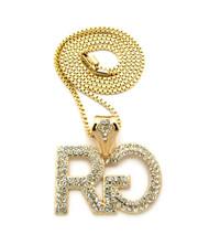Men's Hip Hop Rich Gang Chain Pendant Box Chain Necklace Gold