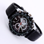 Mens Black Gel Band Band Quartz Analog Sport Wrist Watch BK
