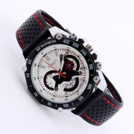 Mens Black Gel Band Quartz Analog Sport Wrist Watch