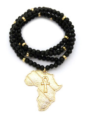 Mother Africa Ankh Cross Continent Pendant
