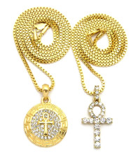 African Ankh Inner Life Cross Pendant 14k Gold