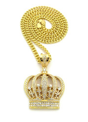 Kings In The Building Crown Hip Hop Pendant 14k Gold