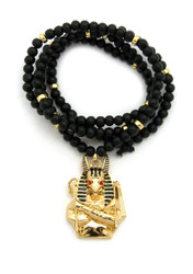 Egyptian God Anpu Anubis Pendant 14k Gold