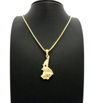 14k Gold God Horus Ancient African Pendant