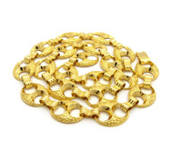 17mm 14k Gold Nugget Marina Hip Hop Big Boy Chain