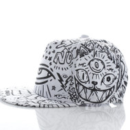 All Seeing Eye Snapack Fashion Flat Bill Hat