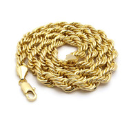 14k Gold 9mm Rope Link Chain Necklace