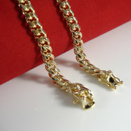 14k Gold  6mm Box Lock Miami Cuban Link Chain Necklace 36""
