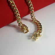 14k Gold  6mm Box Lock Miami Cuban Link Chain Necklace 30""