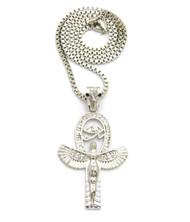 .925 Silver SP Goddess Isis Eye of Ra Diamond Cz Box Chain