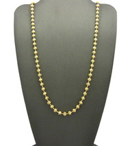 14k Gold 4mm Moon Cut Ball Chain Necklace