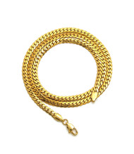14k Gold Over Stainless Steel Miami Cuban Link Chain 4.8mm