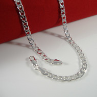 4.8mm Classic Cuban Link Chain Necklace 925 Silver