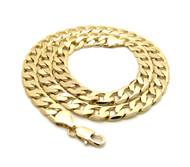 Mens Hip Hop 9mm Diamond Cut Cuban Link Chain Necklace