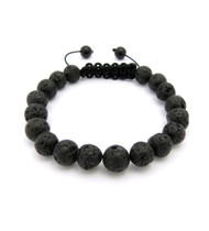 10mm Volcanic Rock Lava Stone Beads Bracelet