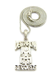 .925 Sterling Silver Deathrow Inspired Hip Hop Pendant