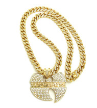 Hip Hop Heads Wu Tang Clan Cuban Link Iced Out Pendant