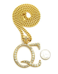 14k Gold Simulated Diamond Quality Control Hip Hop Music Chain