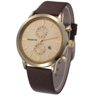 Brown Gold Sleek Street Casual Watch