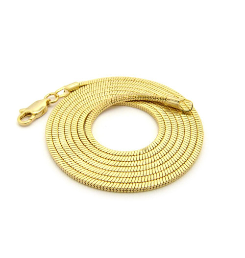 14k Gold Snake Link hip hop Chain