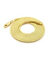 14k Gold Snake Link hip hop Chain
