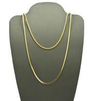 14k Gold Hip Hop Snake Link Chain Necklace Set