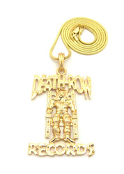 Death Row Records Inspired 14k Gold Hip Hop Snake Chain Pendant