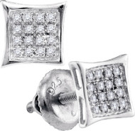 Bling Bling Suds 925 0.10Ctw Diamond Micro Pave Earrings