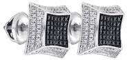 Diamond Concave Earrings
