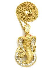 Iced Out Cobra Pendant