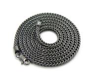 """Mens Gunmetal Franco Link 4mm 36"""" Hip Hop Chain Necklace"""