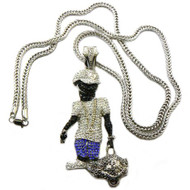 Hip Hop Lil Wayne Duffle Bag Boy Diamond Cz Pendant