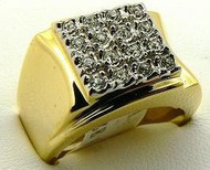 Men's Iced Out Classic 14k Gold GP Hip Hop Ring