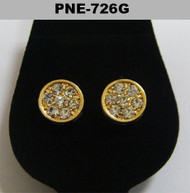 Mens Deep Set Gold Diamond Cz Iced Out Earrings