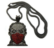 Red on Black Iced Out Boondock Goon Bling Pendant