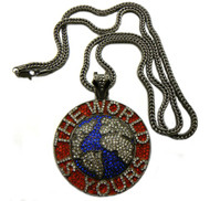 Black Hematite Scarface The World is Yours Hip Hop Pendant