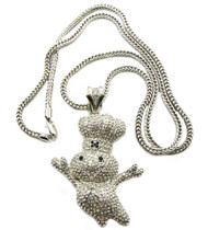 Diamond Cz Pillsbury Dough Boy Hip Hop Bling Silver Pendant