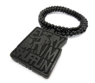 LMFAO Everyday Im Shufflin Wooden Hip Hop Pendant Black