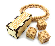 Cee Lo Dice Game Natural Wood Hip Hop Pendant
