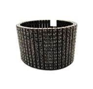 Hip Hop 600 Stone Simulated Diamond Pharaoh Bracelet Black