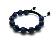 Blue Stone 12mm Cz Disco Ball  Iced Out Bracelet