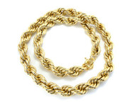 16mm 30 Inch Mens Gold Hip Hop Dookie Rope Chain Necklace