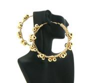 Basketball Wives Style 3 Ball Hip Hop Earrings Earrings Gold