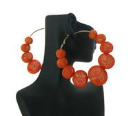 Big Mesh Ball Basketball Wives Earrings Orange