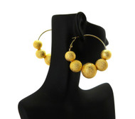 Big Mesh Ball Basketball Wives Earrings Gold