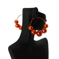 Disco Ball Style Basketball Wives Earrings Orange