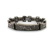 ID Style Cz Hip Hop Bracelet Black