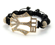 Glass Disco Ball Gold Young Money Bracelet