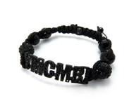 Cz Glass Disco Ball Black YMCMB Bracelet